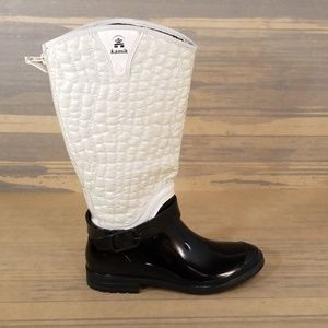 Kamik Tasha Waterproof Zip Up Rain Boots